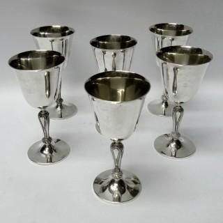 Set of Vintage Silver Goblets