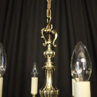 English Brass 5 Light Antique Chandelier