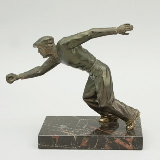 Spelter Figure of a Boules Player