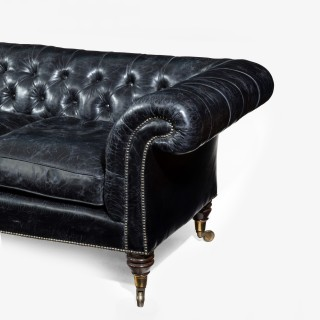 Regency country house three seater sofa/Chesterfield
