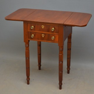 Regency Work Table in Mahogany