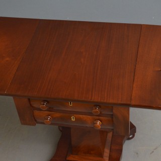 Low William IV Mahogany Work Table