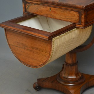 Unusual William IV Work and Writing Table