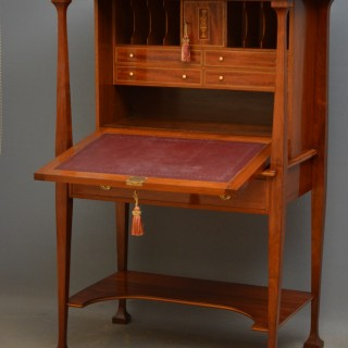 Arts and Crafts Walnut Bureau in the manner of Shapland and Petter