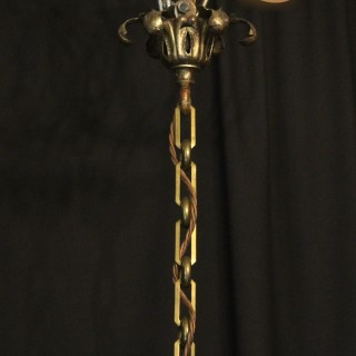 French Convex Triple Light Antique Hall Lantern
