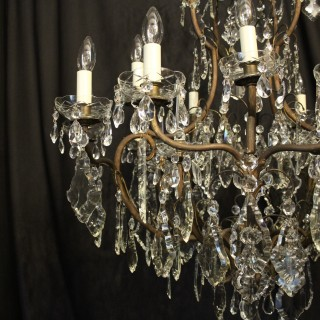 French Gilded 15 Light Antique Chandelier