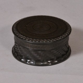Antique Treen 19th Century Ebony Snuff Box