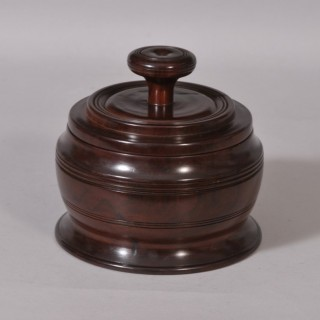 Antique Treen 19th Century Lignum Vitae Storage Container
