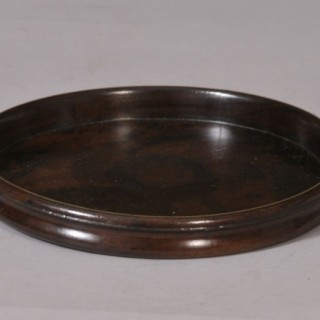 Antique Treen Early 19th Century Mahogany Coaster