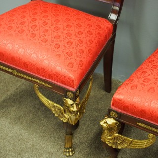 Pair of Empire Revival Side Chairs