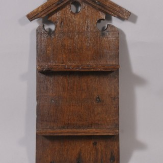 Antique Treen 19th Century Welsh Oak Spoon Rack