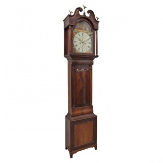 Victorian Mahogany Longcase Clock from Dalkeith