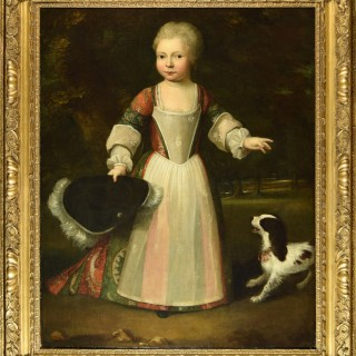 Child in a Landscape with a Dog