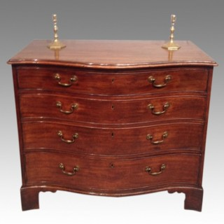 Geo III serpentine mahogany chest of drawers.