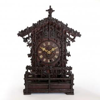 Cuckoo and Quail shelf clock by Beha