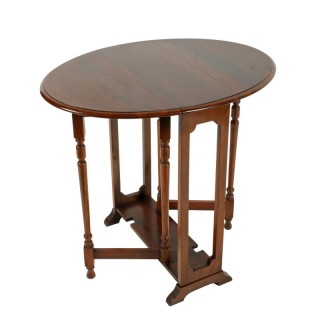 Small Edwardian Walnut Drop Leaf Table