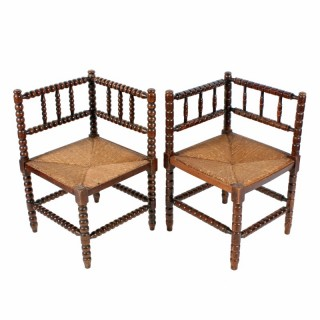 Two Similar Arts & Crafts Corner Chairs