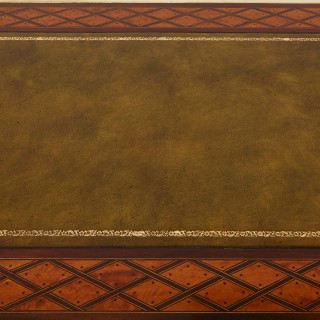 Gilt bronze mounted parquetry desk, attributed to Donald Ross