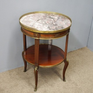 Mahogany and Marble Occasional Table
