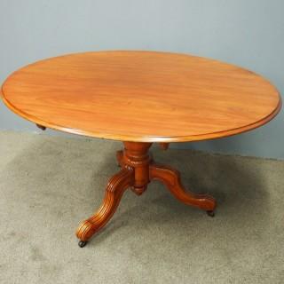 Victorian Oval Mahogany Breakfast Table