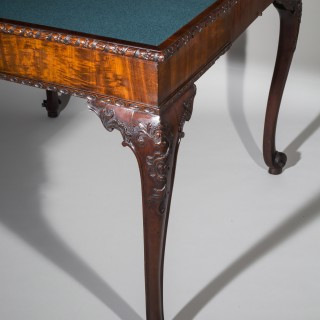 Fine George III Chippendale Mahogany Card Table