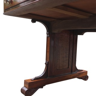 Large Antique Regency Library Table or Desk