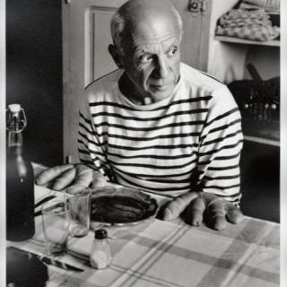Pablo Picasso et les petit pains, 1953