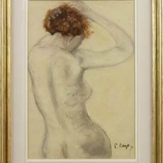 Jesse tying her hair b yPaul Maze DCM MM (1887-1979)