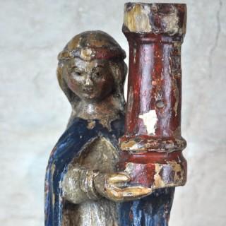 Gothic Figure of St Barbara