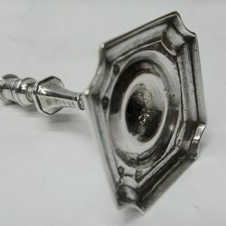 Antique George I Silver Taperstick
