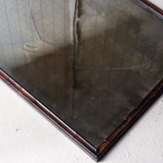 A George III Period Walnut Cushion Framed Rectangular Wall Mirror c.1800