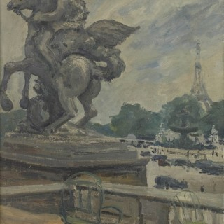 The Eiffel Tower from the Tuileries by Paul Maze DCM MM (1887-1979)