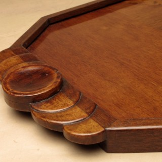 Stylish Art Deco Marquetry Inlaid Wooden Tray