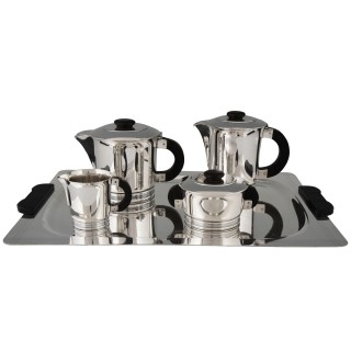 Art Deco silvered tea and coffee set 5 pieces