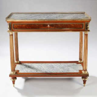 A LOUIS XVI CONSOLE DESSERT – FRENCH 18TH CENTURY SIDE TABLE
