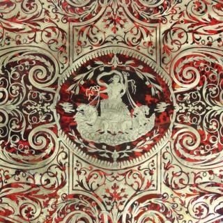 NAPOLEON III RED BOULLE BUREAU DESK