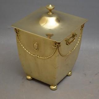 Edwardian Brass Coal Bucket