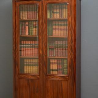 Slim XIXth Century French Mahogany Bookcase