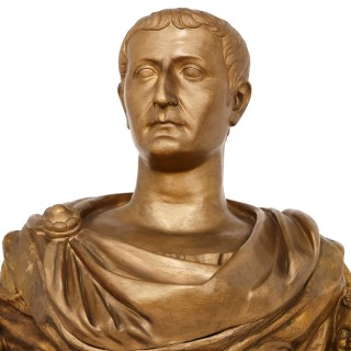 Large ormolu bust of Julius Caesar, Emperor of Rome