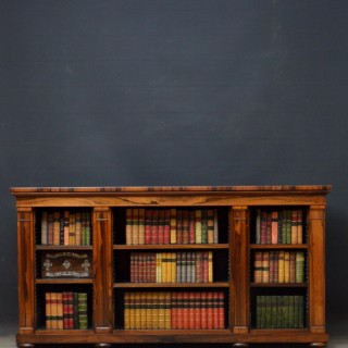 William IV Dwarf Bookcase in Rosewood by J. Kendell & Co