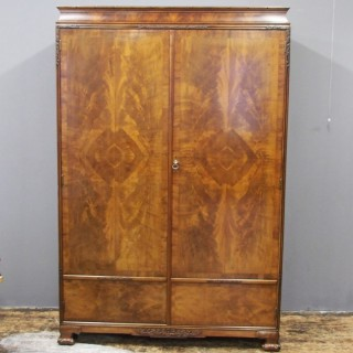 Mahogany Two Door Wardrobe by Whytock and Reid