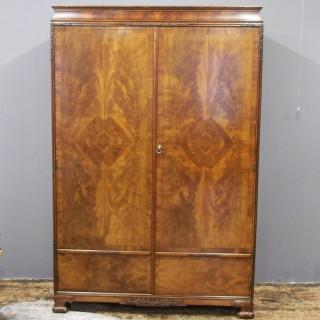 Mahogany Two Door Wardrobe by Whytock and Reid
