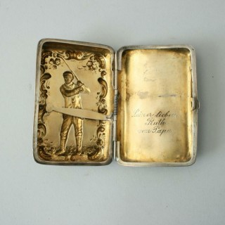 Golfing Cigarette Case