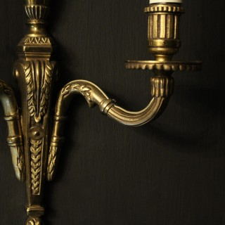 French Set Of 4 Gilded Twin Arm Wall Lights