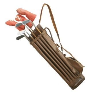 The Birkdale Leather Golf Bag.