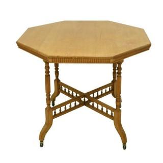 Octagonal Oak Table