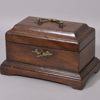George III Mahogany Tea Chest or Caddy
