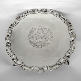 Antique George II Silver Salver