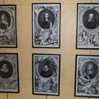 18th. century set of engravings of important historical characters engraved by Jacobus Houbraken