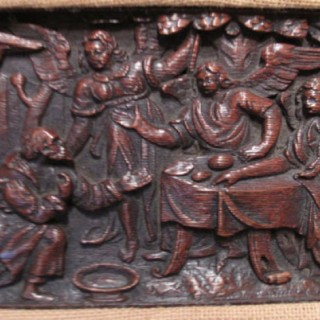 Dutch Oak 5 Relief Sculpture Carvings circa 1650